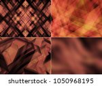set of abstract dark red... | Shutterstock . vector #1050968195
