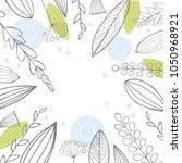 vector floral background with... | Shutterstock .eps vector #1050968921
