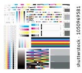 cmyk offset mark set vector... | Shutterstock .eps vector #1050969581