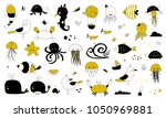 vector set of hand drawn ocean... | Shutterstock .eps vector #1050969881