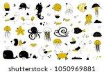 vector set of hand drawn ocean... | Shutterstock .eps vector #1050969881