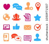 icons set for social network... | Shutterstock .eps vector #1050971507