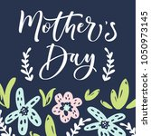 mother's day greeting card with ... | Shutterstock .eps vector #1050973145