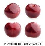 cherries isolated on white... | Shutterstock . vector #1050987875