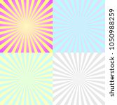 set of sun rays backgroundsun... | Shutterstock .eps vector #1050988259
