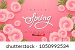 spring sale background layout... | Shutterstock .eps vector #1050992534
