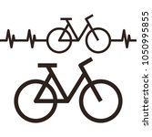bike and heartbeat symbol... | Shutterstock .eps vector #1050995855