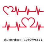 heartbeat icons.... | Shutterstock .eps vector #1050996611
