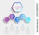 modern hexagon infographic with ...   Shutterstock .eps vector #1051000967