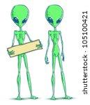 two doodle aliens | Shutterstock . vector #105100421