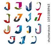 j letter icons template for... | Shutterstock .eps vector #1051008965