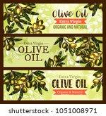 olive oil organic extra virgin... | Shutterstock .eps vector #1051008971