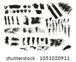 collection of hand drawn ink... | Shutterstock .eps vector #1051020911