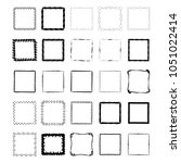 set of hand drawn ink frames.... | Shutterstock .eps vector #1051022414