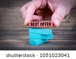 best offer. business concept... | Shutterstock . vector #1051023041