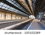 Iron Arches And Empty Platform...