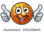 a basketball ball cartoon...   Shutterstock .eps vector #1051028645
