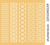 seamless line borders patterns... | Shutterstock .eps vector #1051040159