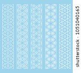 seamless line borders patterns... | Shutterstock .eps vector #1051040165
