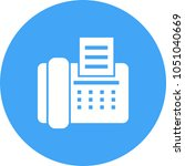 fax machine icon   Shutterstock .eps vector #1051040669