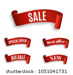 special offer vector ribbon.red ... | Shutterstock .eps vector #1051041731