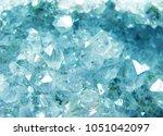 aquamarine natural quartz blue... | Shutterstock . vector #1051042097