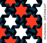seamless pattern with star of... | Shutterstock .eps vector #1051046147