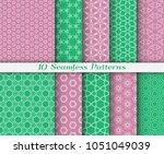seamless pattern set in arabic... | Shutterstock .eps vector #1051049039