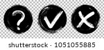 tick  cross and question icons  ... | Shutterstock .eps vector #1051055885