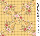 seamless floral pattern with... | Shutterstock .eps vector #1051057145