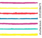 paint lines seamless pattern.... | Shutterstock .eps vector #1051058675