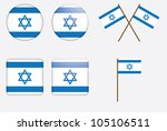 set of badges with flag of... | Shutterstock .eps vector #105106511