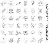 biology icons set. outline... | Shutterstock . vector #1051066991