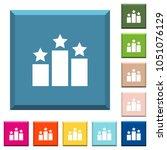 ranking white icons on edged... | Shutterstock .eps vector #1051076129