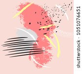 expressional shape in pink... | Shutterstock .eps vector #1051076651