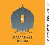 mosque silhouette vector... | Shutterstock .eps vector #1051080131