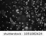 black bokeh  abstract black... | Shutterstock . vector #1051082624