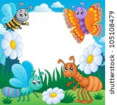 frame with bugs theme 3  ... | Shutterstock .eps vector #105108479
