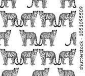 seamless pattern of hand drawn... | Shutterstock .eps vector #1051095509
