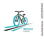 action drive bicycle and... | Shutterstock .eps vector #1051099445