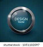 blue button vector | Shutterstock .eps vector #1051102097