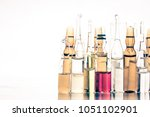 pile of colorful transparent... | Shutterstock . vector #1051102901