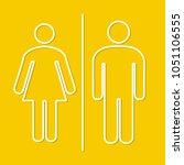 simple basic icon sign for men... | Shutterstock .eps vector #1051106555