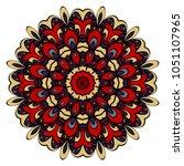 mandala style color shapes.... | Shutterstock .eps vector #1051107965