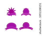 a set of labels. isolated icons.... | Shutterstock .eps vector #1051108151