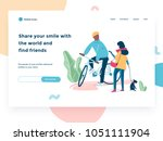 relationship  online dating and ... | Shutterstock .eps vector #1051111904