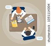 medical consultaton at office... | Shutterstock . vector #1051114304
