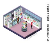 isometric concepts pharmacy.... | Shutterstock .eps vector #1051118567