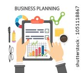 woman planning business. female ...   Shutterstock . vector #1051118867