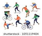 vector stylized illustration... | Shutterstock .eps vector #1051119404